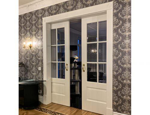 Stylowe drewniane drzwi wewnętrzne