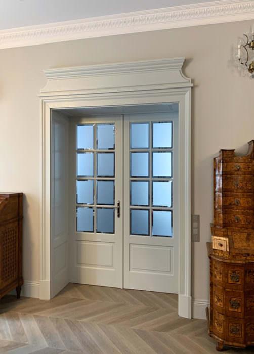 Drzwi dwuskrzydłowe - styl angielski