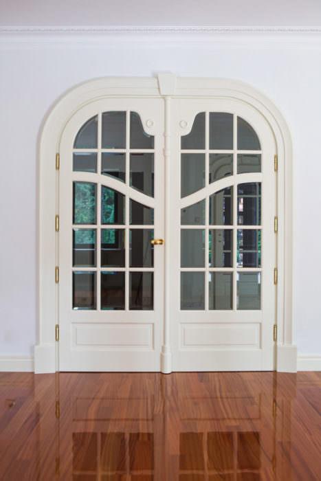 Secesyjne drzwi 2-skrzydłowe