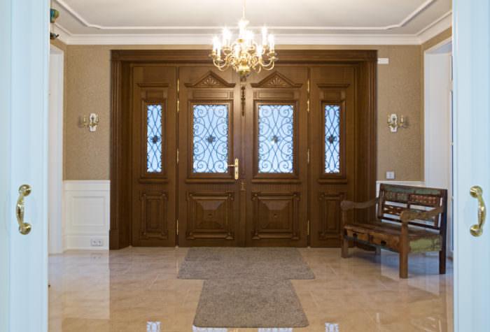 stylowe drzwi 4-skrzydłowe zewnętrzne widok od wewnątrz