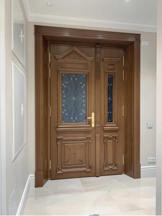 stylowe drzwi zewnętrzne 2-skrzydłowe widok od wewnątrz