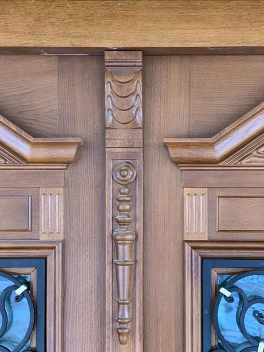 detal drzwi stylowych drzwi zewnętrznych-ozdobnik wykonanie ręczne